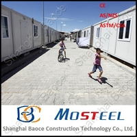 shipping portable converted container house for sale