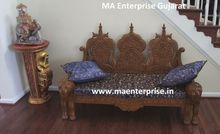 Indian Wooden carved Sofa furniture