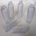 clear cylinder telescoping plastic tube packing