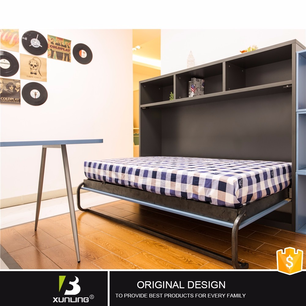 Adjustable Pull Down Wall Bed Wood Folding Bed