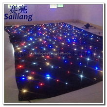 rgbw led /theatre backdrop light fiber optical star cloth/led star curtain