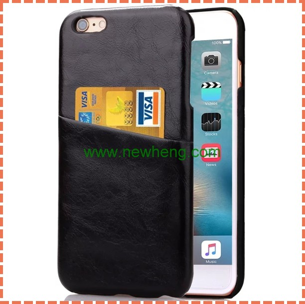 Ultra slim leather cover case with card holder for iphone6