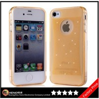 Keno 5 Pack Glitter Jelly Color Soft TPU GEL Protective Case Covers for iPhone4 4S