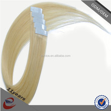 Direct Factory Wholesale Virgin Russian Hair silky straight 613 Double Drawn Stick Tape Hair Extension
