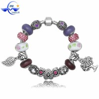 New products on china market charm glass beads nature stone bracelet