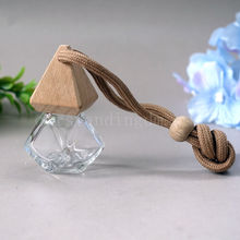 Glass Bottle With Wooden Cap and Inner Seal Car Diffuser Set