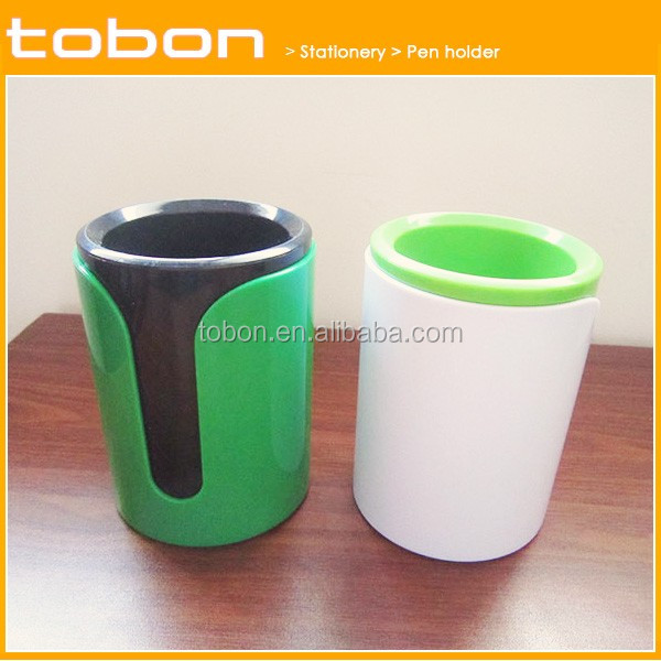 classical plastic ABS material desktop pen holder