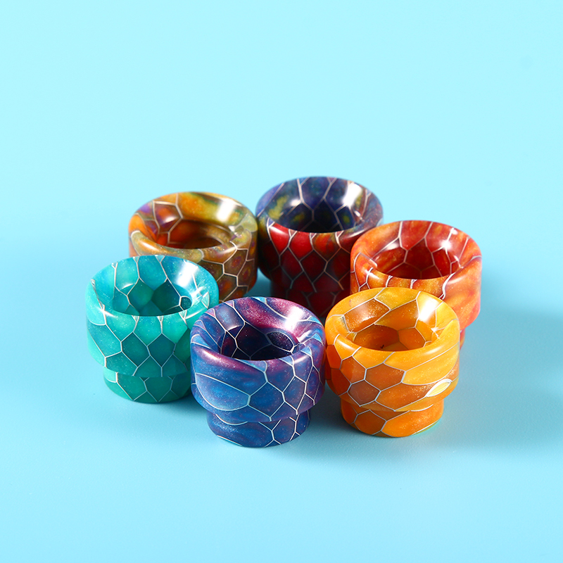 Sailing Snake Pattern 810 Resin Drip Tips Top Cap for Comp Lyfe Kennedy 24 Goon 528 RDA Electronic Cigarette