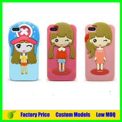 Paypal acceptable sex girl Silicone 3d phone case for Iphone 5c cell phone case back cover
