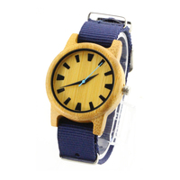 2018 Nylon Band OEM Wood Watch Young Lovers Trendy Relojes Watch