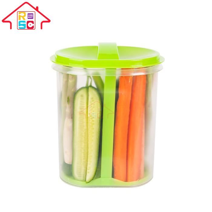 Food Grade Plastic Pickle Jar with Strainer, Clear Plastic Vegetable Storage Container for Pickle