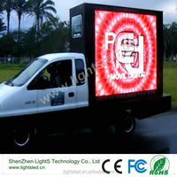 customized p10 mobile truck led tv screen commercial advertising led display/screen for truck/car/van