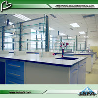 Full Steel Lab Table For University SEFA Standard Requirement