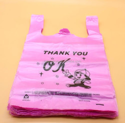 Wholesale t shirt bags ldpe Custom pe t shirt bags plastic t shirt bag sales