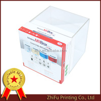 music box 4 color printing package with acrylic box lid