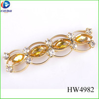 HW4982 yiwu renqing jewelry peach colored acrylic high heels shoes buckle for women