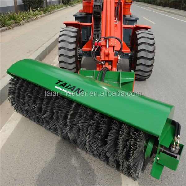 TAIAN brand road sweeper hydraulic rotary brush for loader or tractor