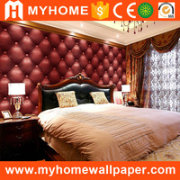 Luxury Solid Color Deep Embossed Stone Art Plaid Vinyl 3d Waterproof Wallpaper for Bedroom