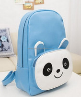 2014 Fashion Designer Factory Price Pu Leather Lovely Panda Style Backpack Bag Knapsack Shoulders School Bag Low MOQ Sale