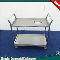 Hotel 3 layers stainless steel housekeeping cart/service cart/food service trolley for restaurant equipment