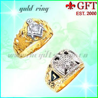 Wholesales Metal Masonic Gold /Silver Jewels Rings GFT-MJ003