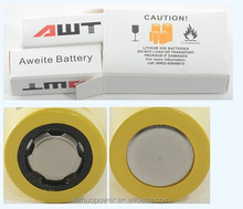 AWT 18500 1200mah 18A battery 3.7v 4.2v lithium rechargeable battery for toys flat lithium battery
