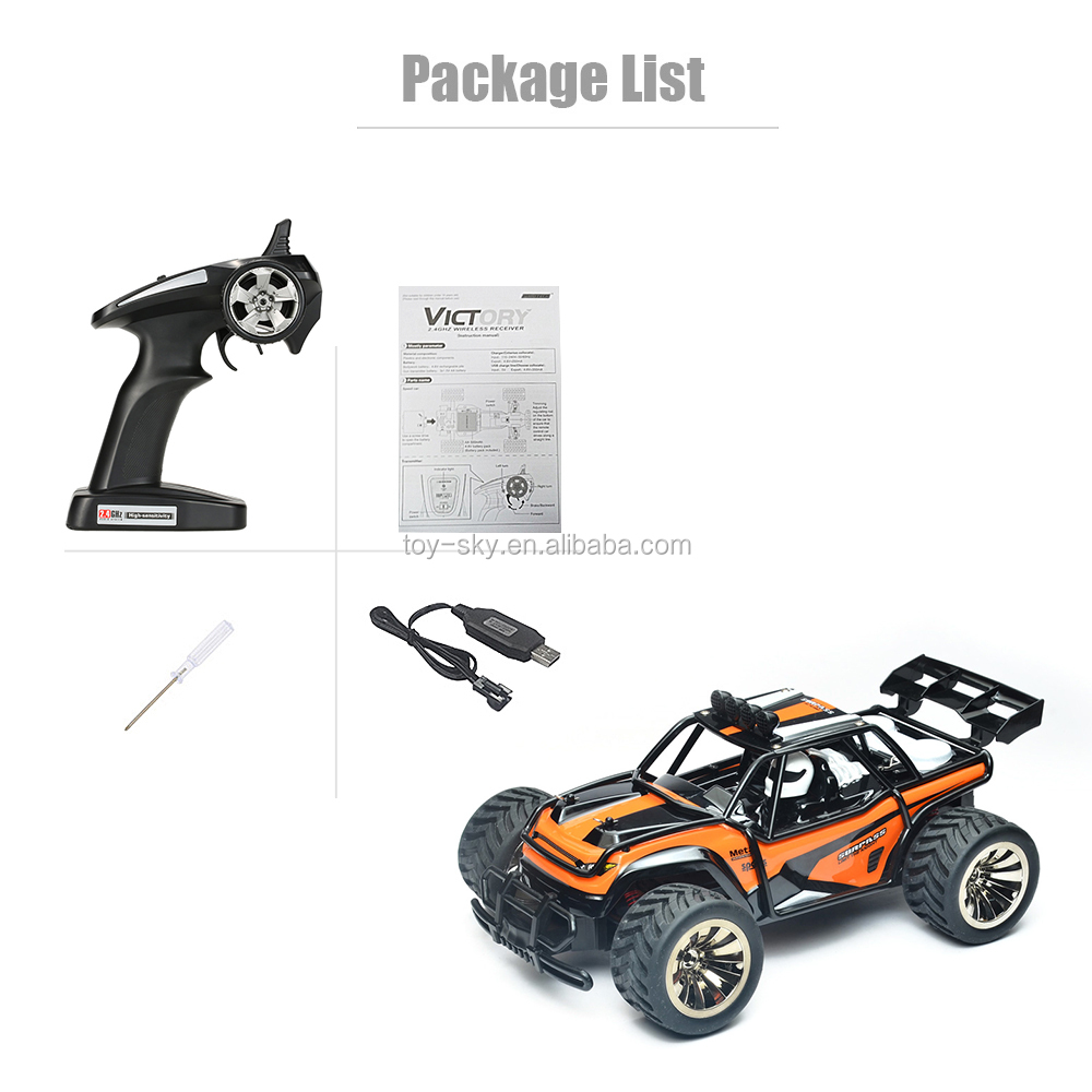 Alibaba China manufacture Newest Buggy car 2.4G 4 Wheel drive Desert fox RC Truck Model 15 km/h