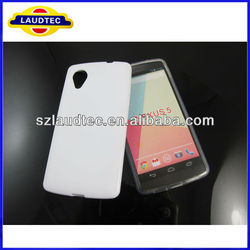 White TPU Rubber Case Cover Skin for LG Google Nexus 5