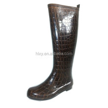 2014 new style name brand fashionable waterproof rubber horse riding boot for lady 36-41#