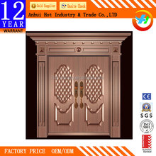 Contemporary main entrcance real copper front door design modern