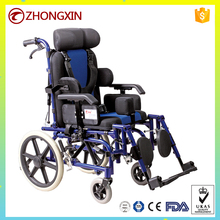 Aluminum chair frame high back reclining wheelchair for cerebral palsy children