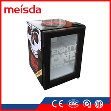 21L small glass door counter top upright beer bottle energy soft drink beverage display refrigerator SC21