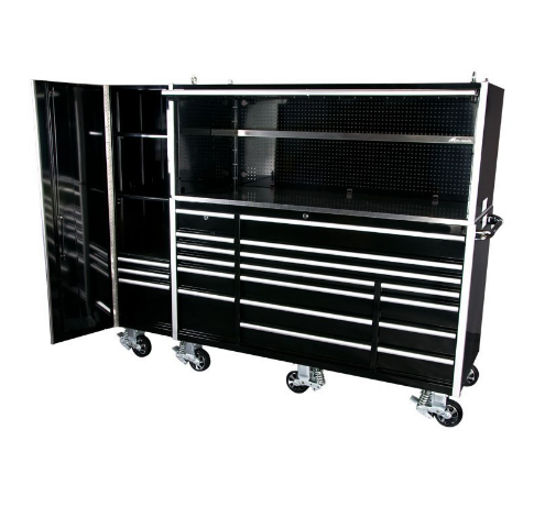"us general stainless steel 72"" powder coated tool box wih wheels rolling metal tool box made in China"