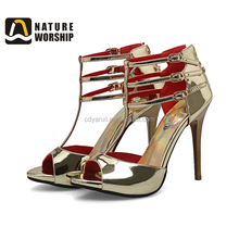 Fashion Lady Stylish Summer Party Wear Sex High Heel Women Sandal Design Made in China