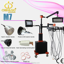 2015 Excellent design Photon & BIO electric handle system for breast enhancement beauty machine M7/CHIN LOO/CE