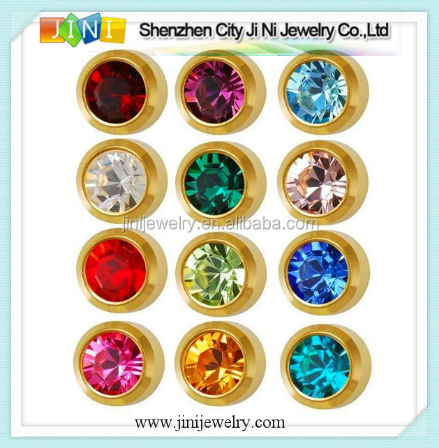 birthstones studex ear piercing studs