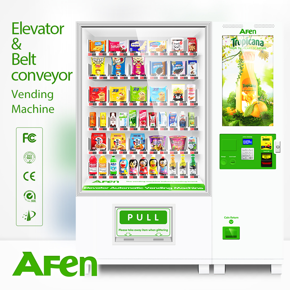 Fresh fruit&salad/vegetables/lunch box vending machine with elevator