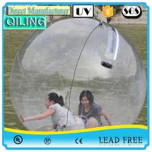 QL Exclusive design transparent TPU crawl water ball for kids