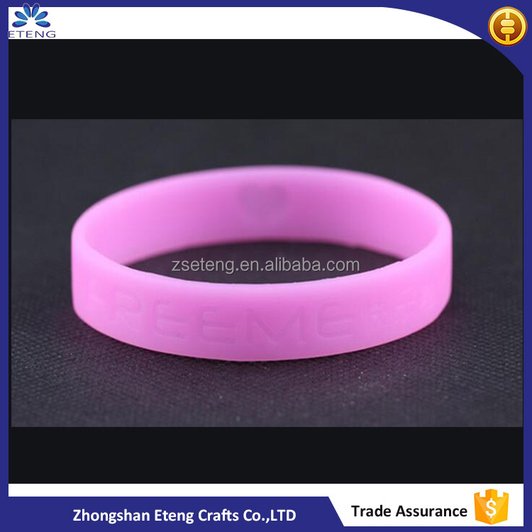 Promotion custom printed silicone bracelets with your own text