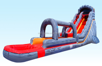 Large Inflatable Wet/Dry Slide For Kids And Adults, 18Ft Water Slide with Slip n Dip