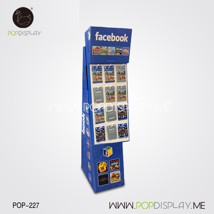 Eco-Friendly Modular Cardboard Advertising Material Promotion High Quality Magazine Paper Display Stand