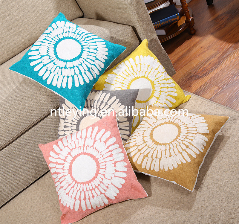 High quality knitted home Textiles chair cushions case sofa pillow printed rest Throw pillow cover simple fabric LYKP025