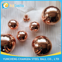1 2 3 4 5 6 8 inch hollow copper ball