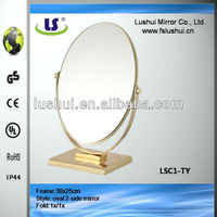 cheap table standing make up gold cosmetic mirror