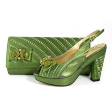 2017 Matching Green Shoes and Bags, Italian Designer Shoes MG0111