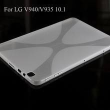 Transparent Clear TPU Back Case For LG G PAD 2 10.1 V940 V935 X Line Covers High Quality