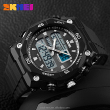 Fashion trend large face double time digital man watches for sale