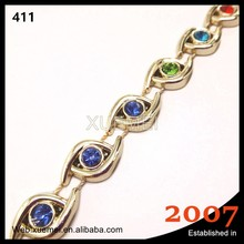 new multicolor garment accessory crystal rhinestone chain trimming mesh roll