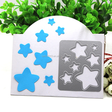2017 DIY 7PCS Stars Sizzix Steel Metal Die Cutting Dies Scrapbooking Embossing Dies Cut Stencils DIY Decorative Cards Craft Gift
