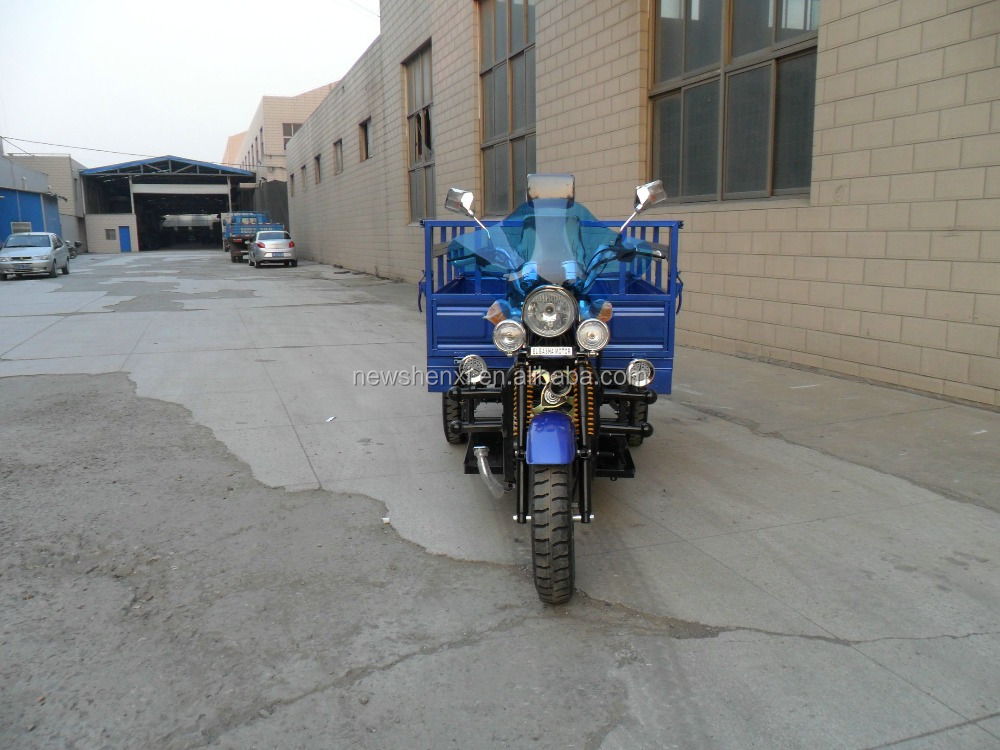 Brushless Motor Three Wheel Cargo Motorcycle with Cover 200cc 150cc 250cc